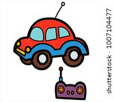 cute cartoon car toy on white... | Shutterstock .eps vector #1007104477