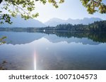 mountain lake and trees ... | Shutterstock . vector #1007104573