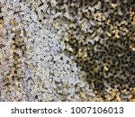 sequins on the fabric. texture... | Shutterstock . vector #1007106013