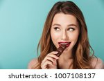 portrait of a smiling brown... | Shutterstock . vector #1007108137