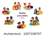 happy families parents with... | Shutterstock .eps vector #1007108707
