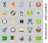 icons set about digital... | Shutterstock .eps vector #1007120413