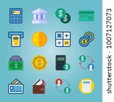 icon set about currency. with... | Shutterstock .eps vector #1007127073