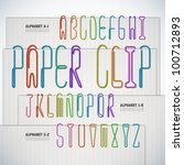 Vector Alphabet Shaped Paper...
