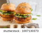 healthy baked sweet potato...   Shutterstock . vector #1007130373