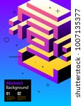 poster design with weird... | Shutterstock .eps vector #1007135377