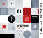 patchwork square template in... | Shutterstock .eps vector #1007135413