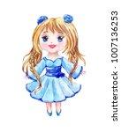 anime is a little girl in a...   Shutterstock . vector #1007136253