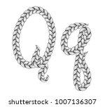 braids font. alphabet made from ...   Shutterstock .eps vector #1007136307