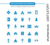 religion and philosphy icons... | Shutterstock .eps vector #1007137297