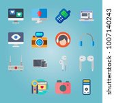 icon set about devices with