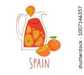 vector symbols of spain.... | Shutterstock .eps vector #1007146357