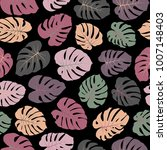 vector tropical pattern with... | Shutterstock .eps vector #1007148403