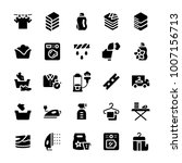 laundry service icon set in...   Shutterstock .eps vector #1007156713