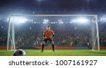 soccer game moment  on... | Shutterstock . vector #1007161927