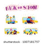 vector flat collection of happy ... | Shutterstock .eps vector #1007181757
