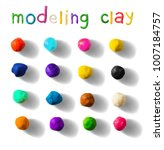color modeling clay balls set... | Shutterstock .eps vector #1007184757