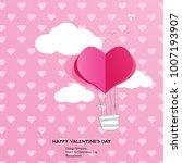 design template   air balloon ... | Shutterstock .eps vector #1007193907
