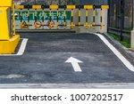 parking entrance in business...   Shutterstock . vector #1007202517