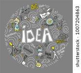 concept ideas. includes a lot... | Shutterstock .eps vector #1007204863