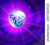 vector illustration of disco... | Shutterstock .eps vector #1007206513