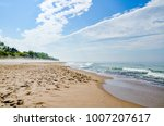 nice beach travel spot with... | Shutterstock . vector #1007207617