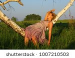 beautiful sexy girl relax on... | Shutterstock . vector #1007210503