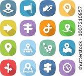 flat vector icon set   pointer... | Shutterstock .eps vector #1007210857