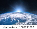 earth in the space. blue...   Shutterstock . vector #1007211337