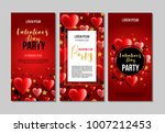 set of valentines day party... | Shutterstock .eps vector #1007212453