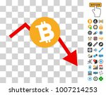 bitcoin recession chart icon... | Shutterstock .eps vector #1007214253