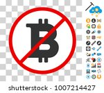 stop bitcoin pictograph with... | Shutterstock .eps vector #1007214427