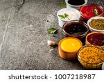set of different sauces  ... | Shutterstock . vector #1007218987
