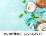 healthy food concept.  fresh... | Shutterstock . vector #1007219197