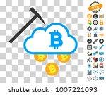 bitcoin cloud mining pictograph ...