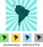 map of south america | Shutterstock .eps vector #1007221753