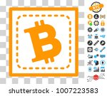 bitcoin square pictograph with...