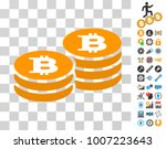 bitcoin coin stacks pictograph...
