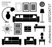 set of living room furniture....   Shutterstock .eps vector #1007224717