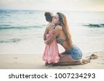 happy mom and baby outdoor near ... | Shutterstock . vector #1007234293