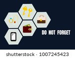 illustration of sign for remind ... | Shutterstock .eps vector #1007245423