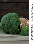 broccoli cabbage in a tin on a...   Shutterstock . vector #1007249677