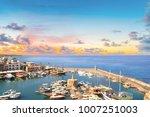 beautiful view of the kyrenia... | Shutterstock . vector #1007251003