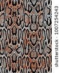 colorful snake print    Shutterstock .eps vector #1007254243