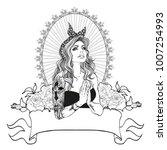 neo getto praying virgin mary....   Shutterstock .eps vector #1007254993