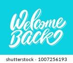 welcome back banner.   Shutterstock .eps vector #1007256193