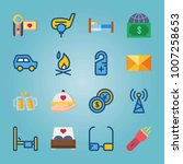 icon set about travel. with... | Shutterstock .eps vector #1007258653