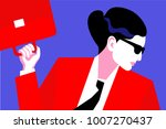 abstract portrait of business... | Shutterstock .eps vector #1007270437