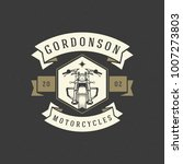 motorcycle club logo template... | Shutterstock .eps vector #1007273803