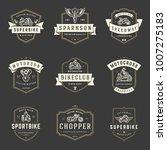 motorcycles logos templates... | Shutterstock .eps vector #1007275183